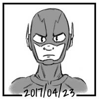 Sketch daily 2017-113, The Flash