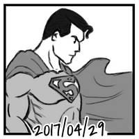 Sketch daily 2017-119, Superman