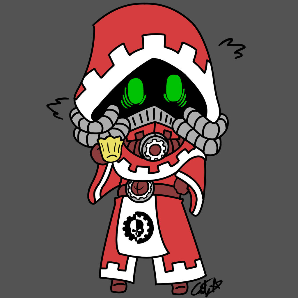 Tech Priest Zeta by HedgieSage on DeviantArt