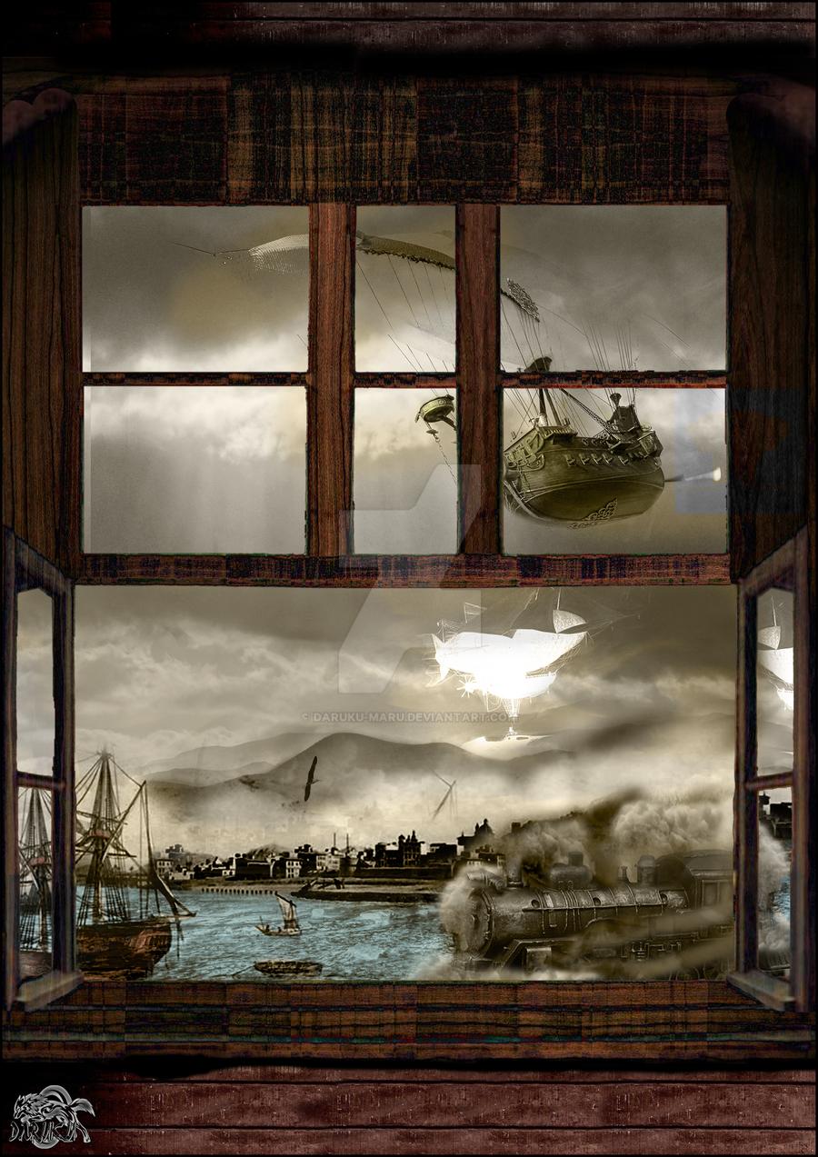 Steampunk Puerto pirata by Daruku-maru
