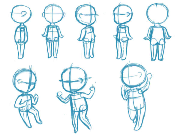 Character Design Basics : Chibi perspective by railey on deviantart