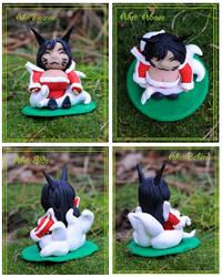LoL: Ahri Chibi Figurine by Railey98