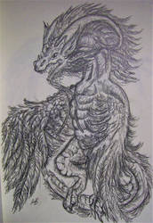 Feathery dragon