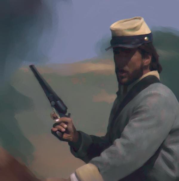 Confederate cavalry by stariander