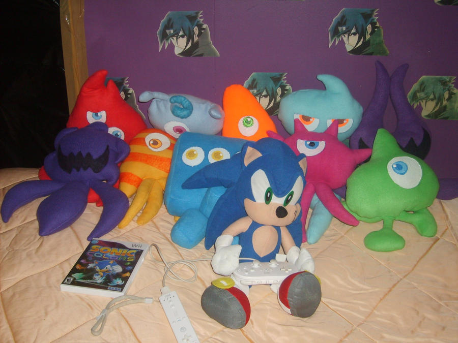 Sonic Colors: Wisps plushies by BrightMega on DeviantArt