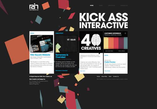 Rain Creative Lab Website Home