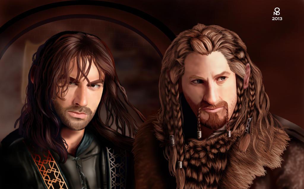 dibujos - el Hobbit  impresionantes dibujos Fili_kili_by_ondjage-d5qa3x8