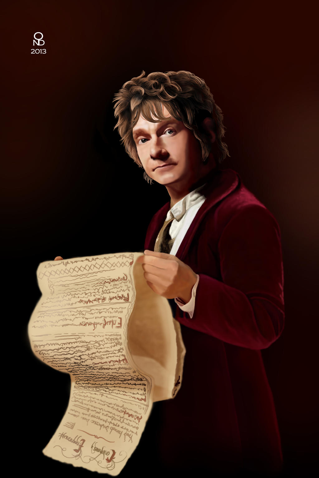 A burglar you said? - Bilbo Baggins by Ondjage