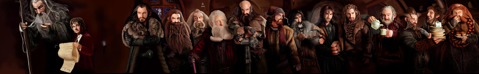 The Hobbit : Thorin Oakenshield's Company by Ondjage