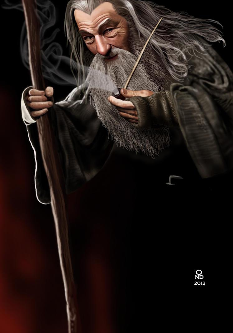 dibujos - el Hobbit  impresionantes dibujos Gandalf_the_grey_by_ondjage-d5t10lv
