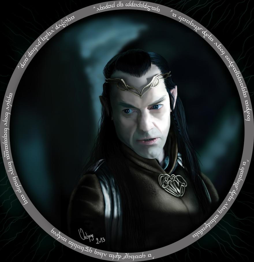 dibujos - el Hobbit  impresionantes dibujos Elrond___lord_of_rivendell_by_ondjage-d5u21vg