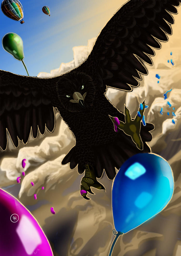 Flying with Balloons - Kiriban Orzel (Video Link) by Ondjage