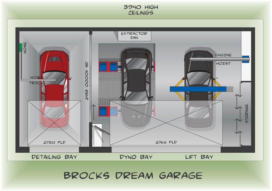Dream Garage Floor Plan by brockyx on DeviantArt