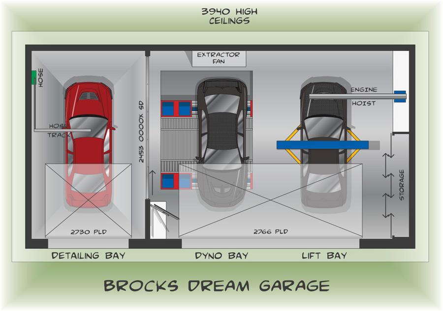 Dream Garage Floor Plan By Brocky x On DeviantArt