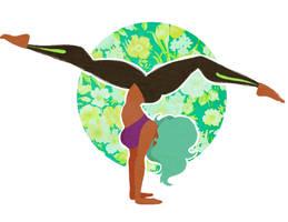 Yoga queen handstand  by Banana-Yvana
