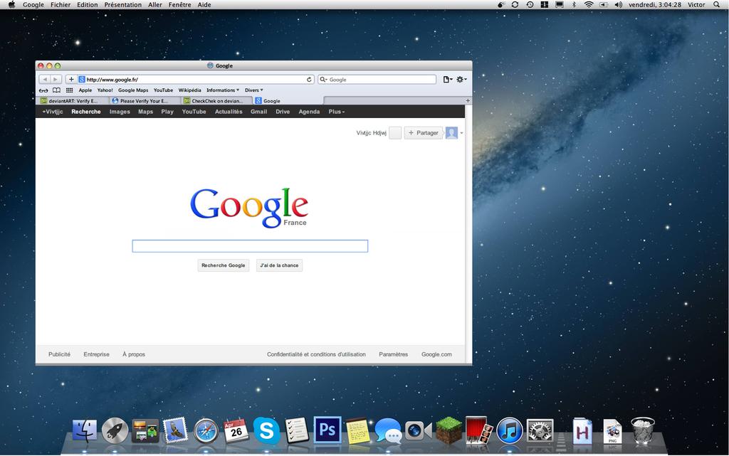 Mac OS X Mountain Lion (10.8) Theme for windows 7 by CheckChek