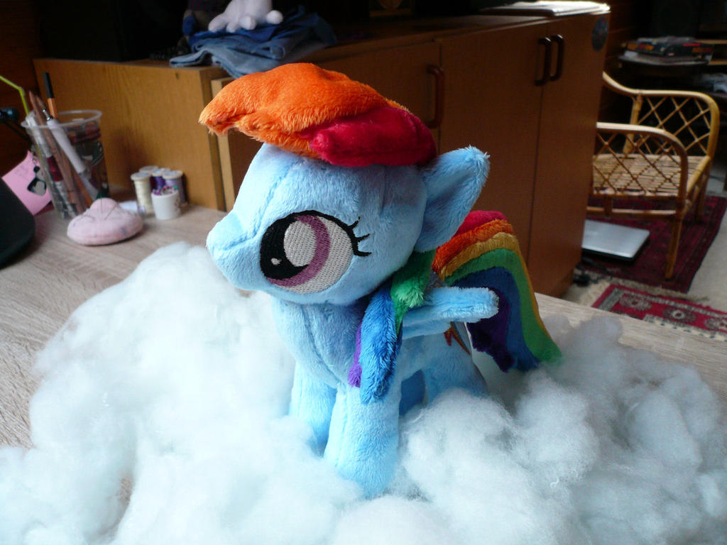 Filly Rainbow Dash Plushie by navkaze
