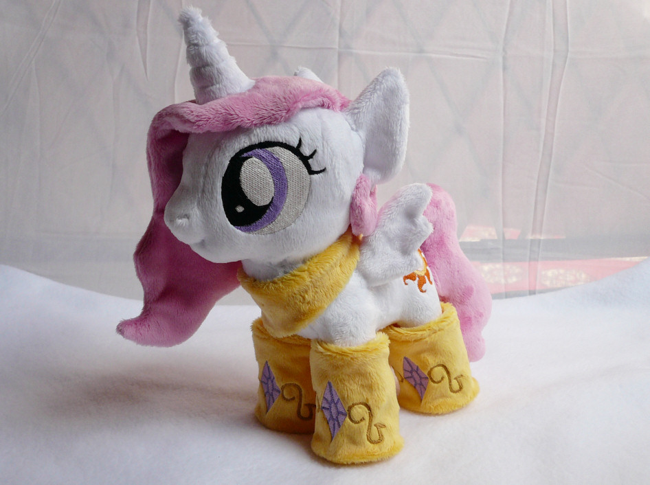 Filly Princess Celestia with socks/scarf Plushie by navkaze
