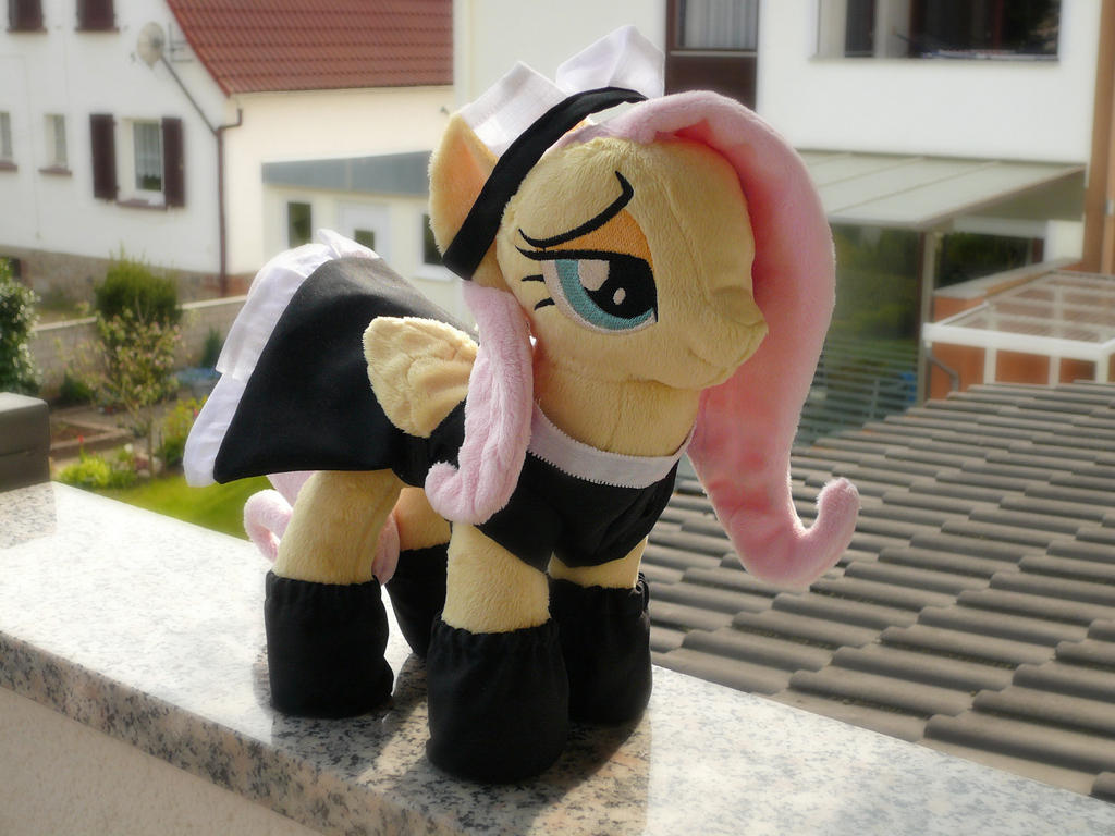 Maid Fluttershy by navkaze