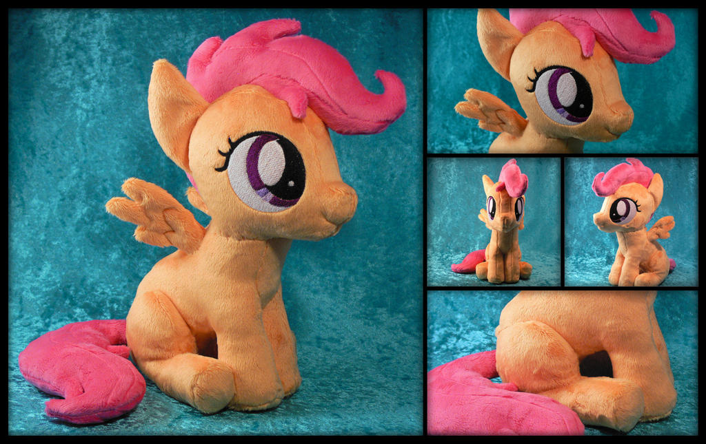 (Sitting) Scootaloo Plushie by navkaze