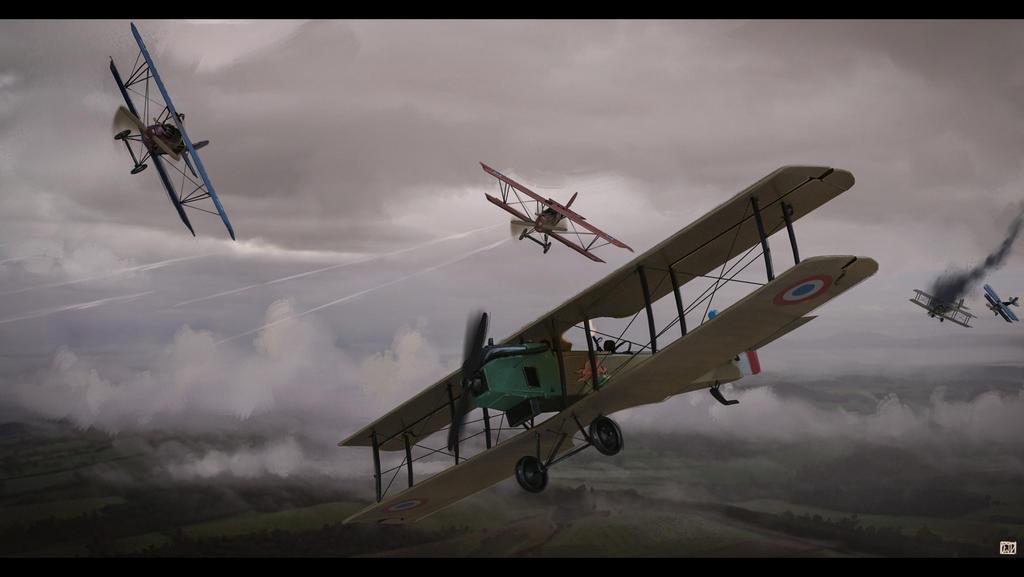 WWI areal warfare by CharlesEJD