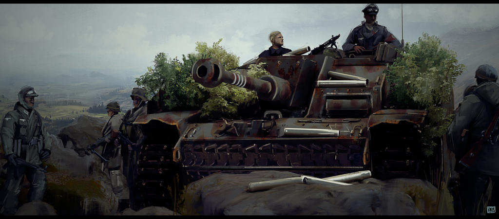 Waiting for the hunt, Stug III Ausf. G by CharlesEJD