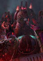 Khornate Red Centurion by CharlesEJD