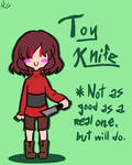 Underfell equipment - Toy knife by Kaitogirl