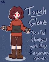 Underfell equipment - Tough Glove by Kaitogirl