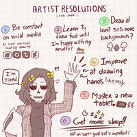 Artist resolutions 2019 by Kaitogirl