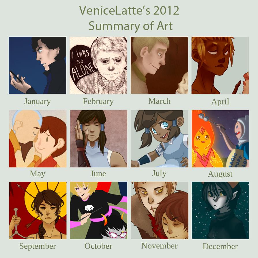 2012 Art Summary by VeniceLatte