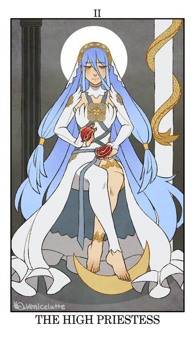 Fire Emblem: Fates Tarot - II. The High Priestess by VeniceLatte