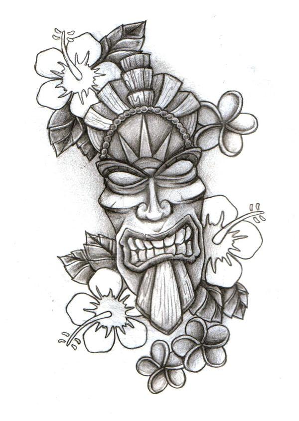 Tiki Mask Sketch By Shanrocket On DeviantArt