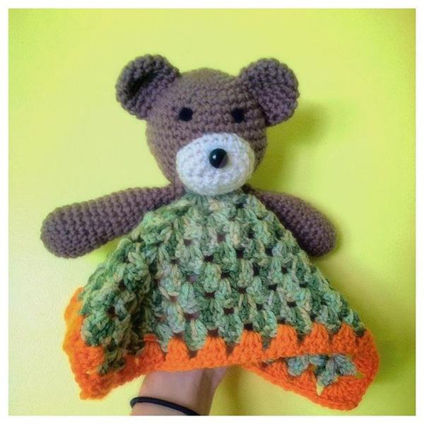 Sweet Nothings Crochet: SLEEPY TEDDY BABY LOVEY | 600x600