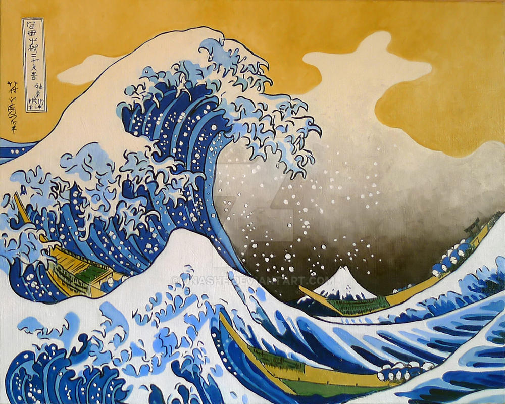 La Gran Ola De Kanagawa Hokusai By Jnashe On Deviantart