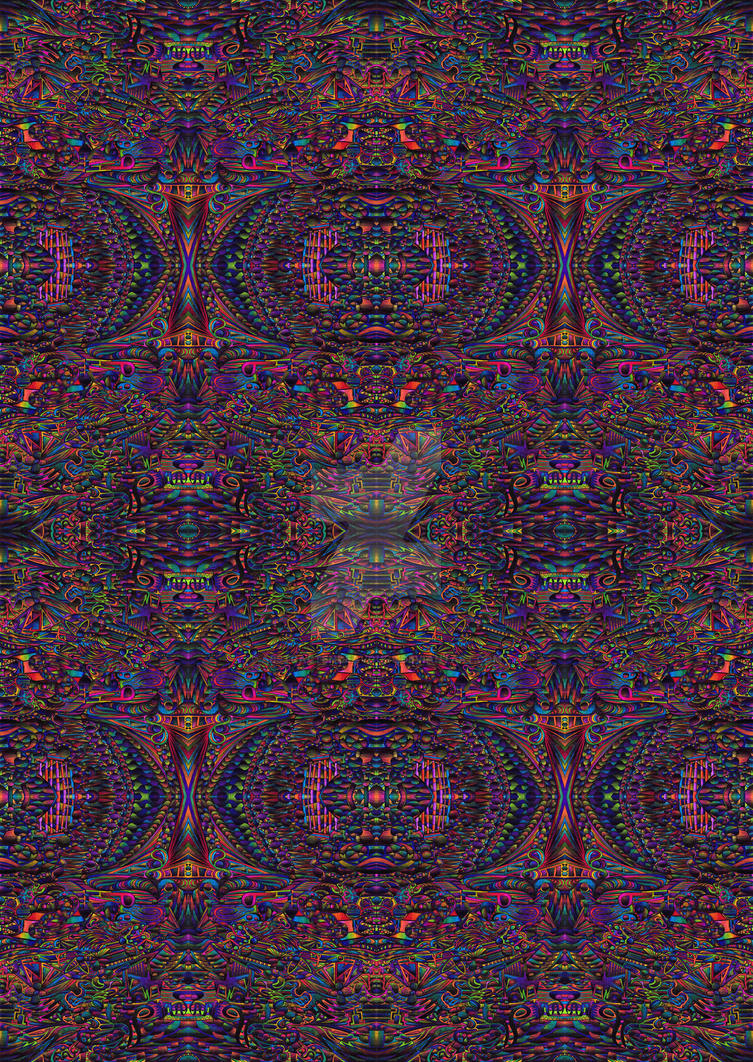 Psychedlic abstract 296 Repeating Pattern by CHoare