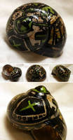 Hand-painted Snail Shell - Downtown Hazard