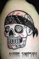 Mexican sugar skull tattoo 1 by ERASOTRON