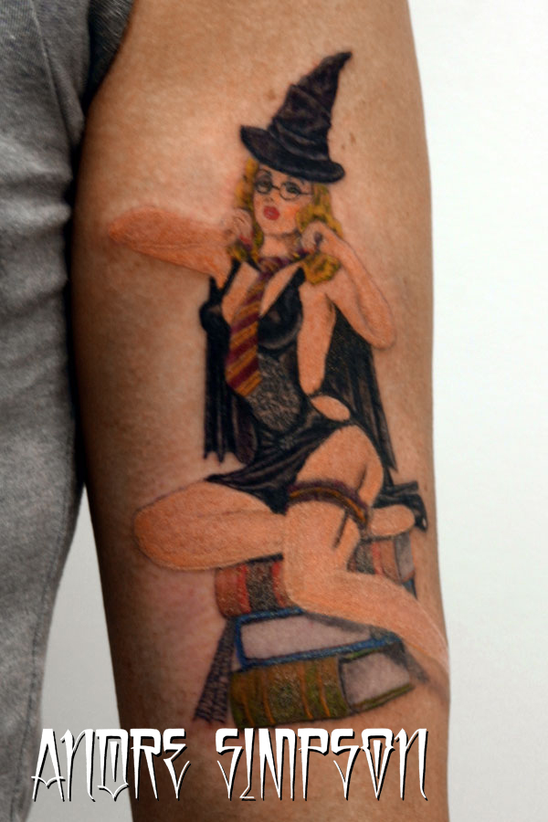 Harry potter style pin up tat by ERASOTRON