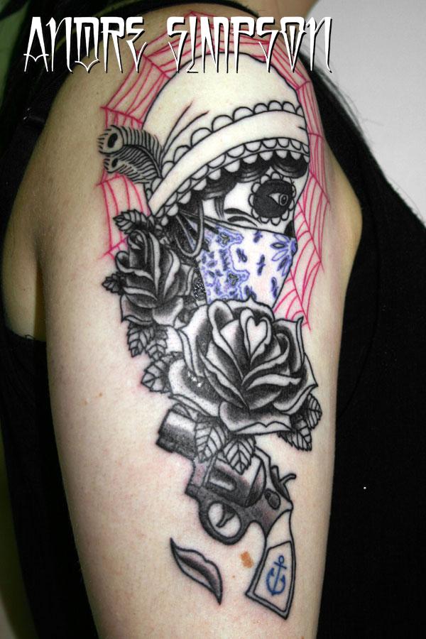 Gypsy sugar skull tattoo by ERASOTRON on DeviantArt  Gypsy sugar sku...