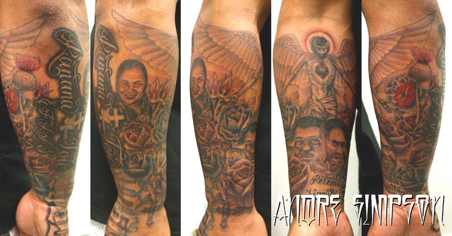 Custom half sleeve tattoo - sleeve tattoo