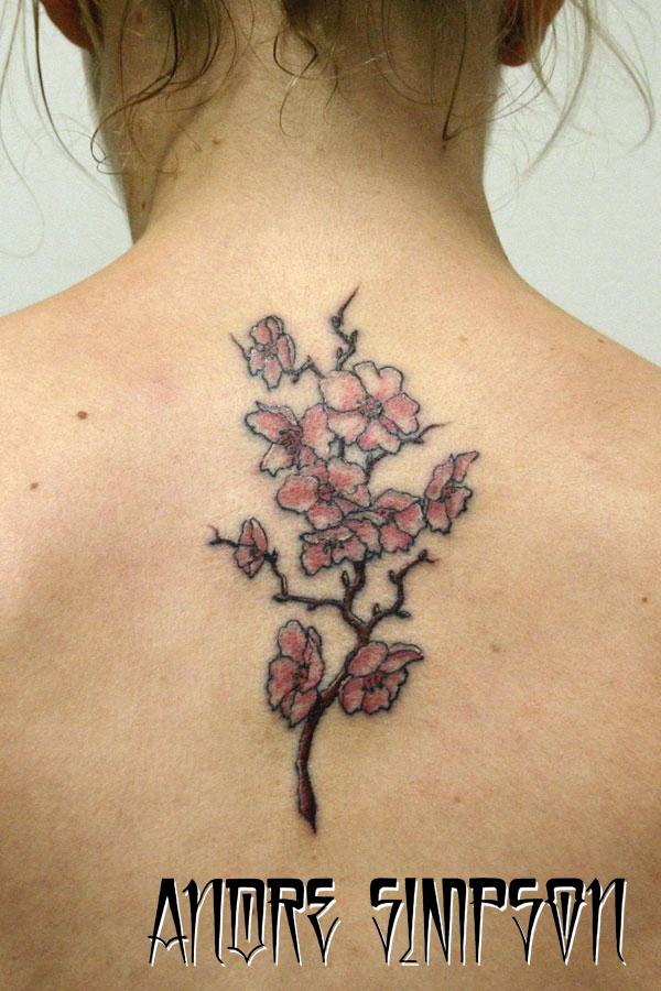 Cherry Blossoms Back Tattoos: Cherry Blossom Back Tattoo 1 By ERASOTRON On DeviantArt