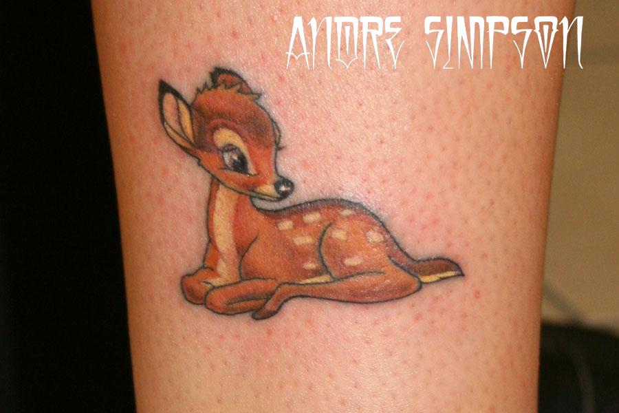 bambi tattoo by erasotron on deviantart. Black Bedroom Furniture Sets. Home Design Ideas