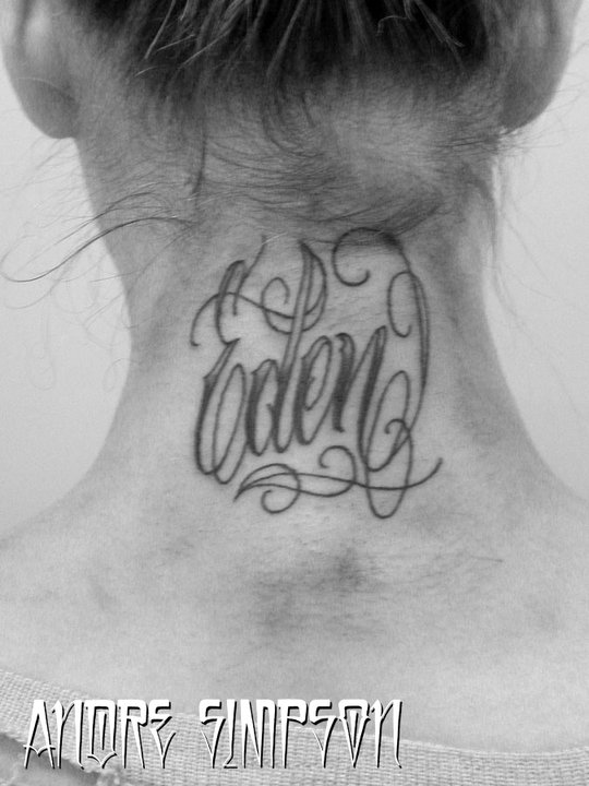 Eden script tattoo by ERASOTRON on DeviantArt