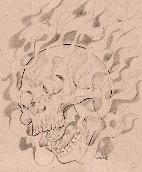 Fire Skull By DESEO ONE