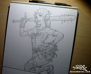 ballgame pencil drawing by DESEO-ONE