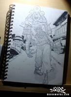 sunday walk sketch by DESEO-ONE