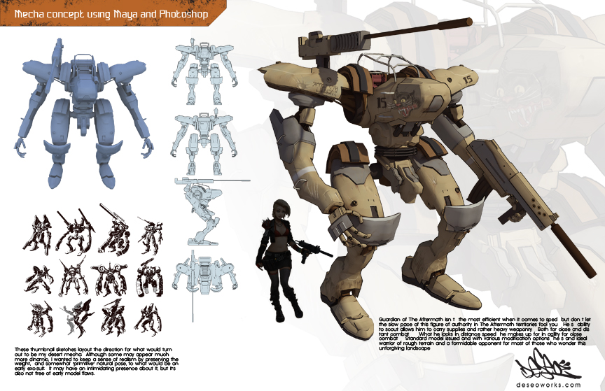 Mecha concept by DESEO-ONE