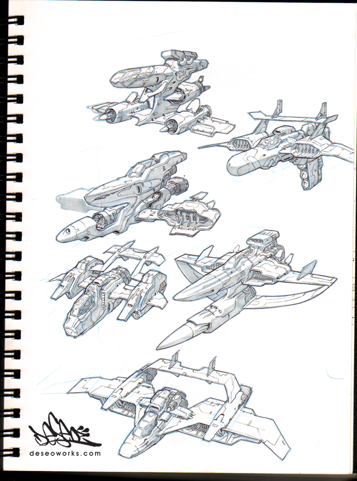 ship drawings by DESEO-ONE