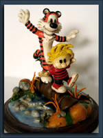 Calvin and Hobbes: Painted by eric-with-a-k